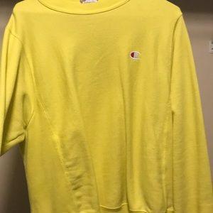 Yellow champion heavy sweater.
